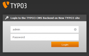 Login to the TYPO3 CMS