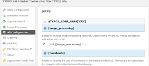 TYPO3 6.0.4 Install Tool on site New TYPO3 site