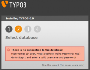 Typo3 There is no connection to the database