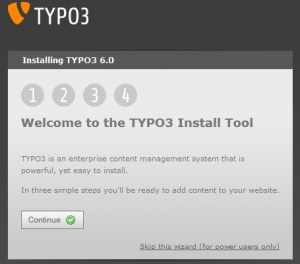 Typo3 Welcome to the TYPO3 Install Tool