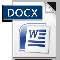 Microsoft Word docx